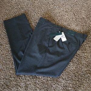 Perry Ellis Men's Slim Fit Stretch Gray Slacks 38